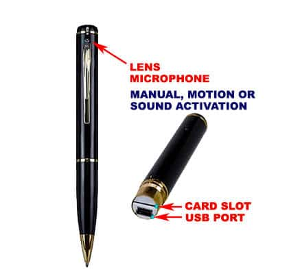USB recorder spy pen commonly used for surreptitious workplace recording.