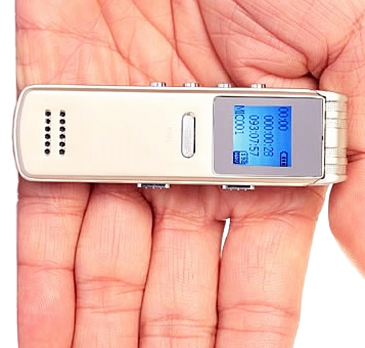 Voice Recorder in Hand
