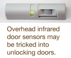 Cybersecurity requirements include IR door release sensor