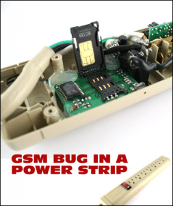 GSM bug in a power strip.