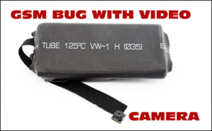 GSM bug with a video camera.