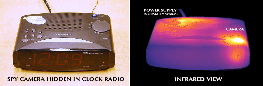 TSCM Clock Radio Infrared Comparison