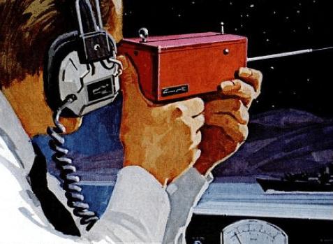 1976 Laser Eavesdropping Listener Artist Concept
