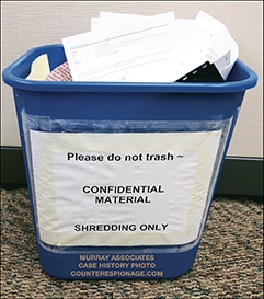 Shred Bin Security – Yours Stinks – Fix it for Free