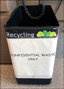 Shred Bin Security - Confidential Waste Bucket 72 dpi