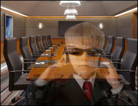 Information Security - Spy Kid in Boardroom