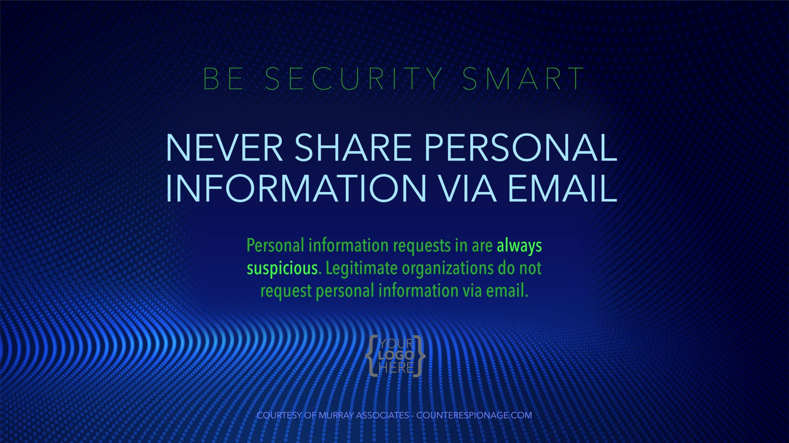 Security Reminder Screen Saver 1 - Never Share