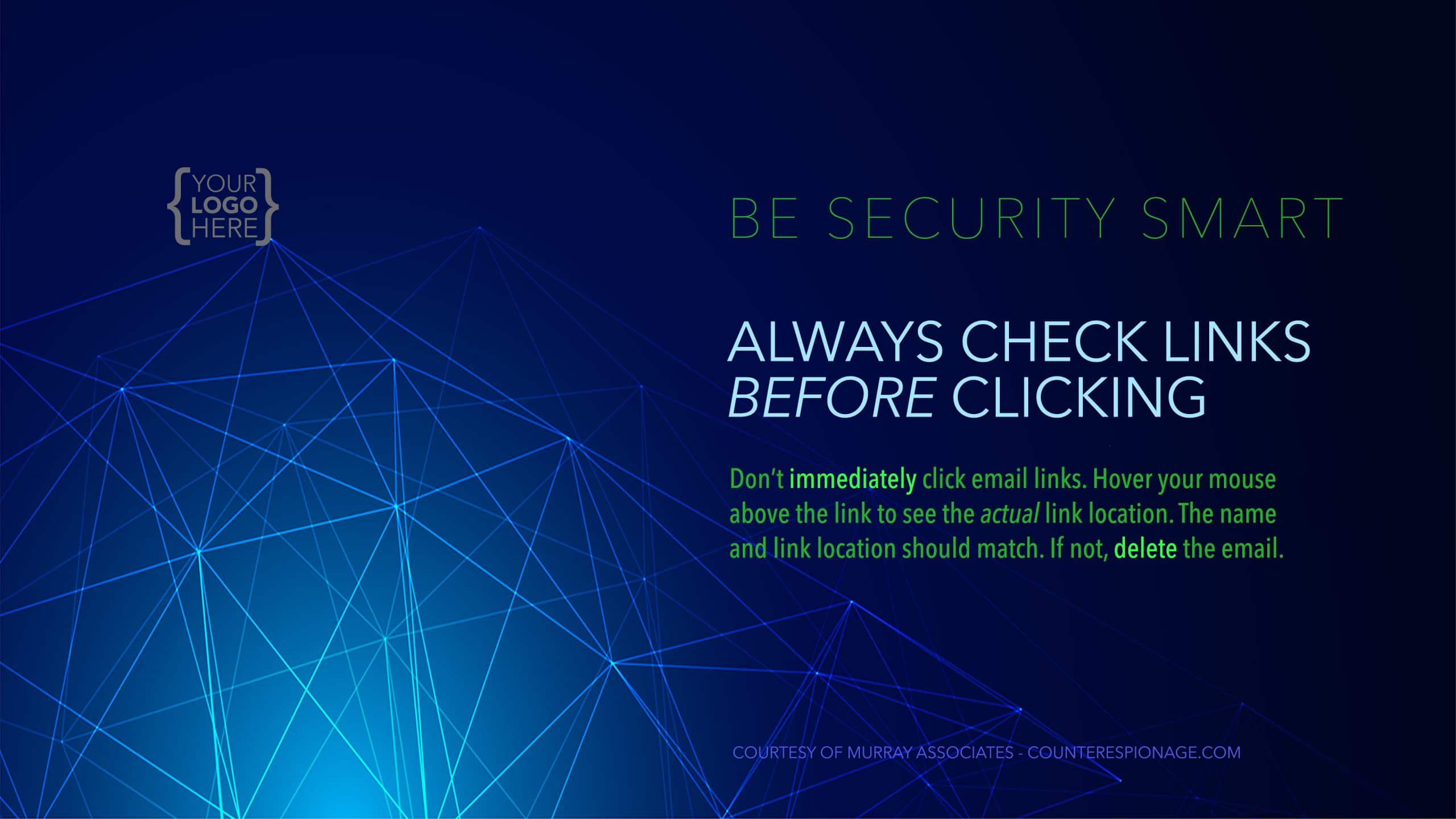 Security Reminder Screen Saver 2 - Always Check