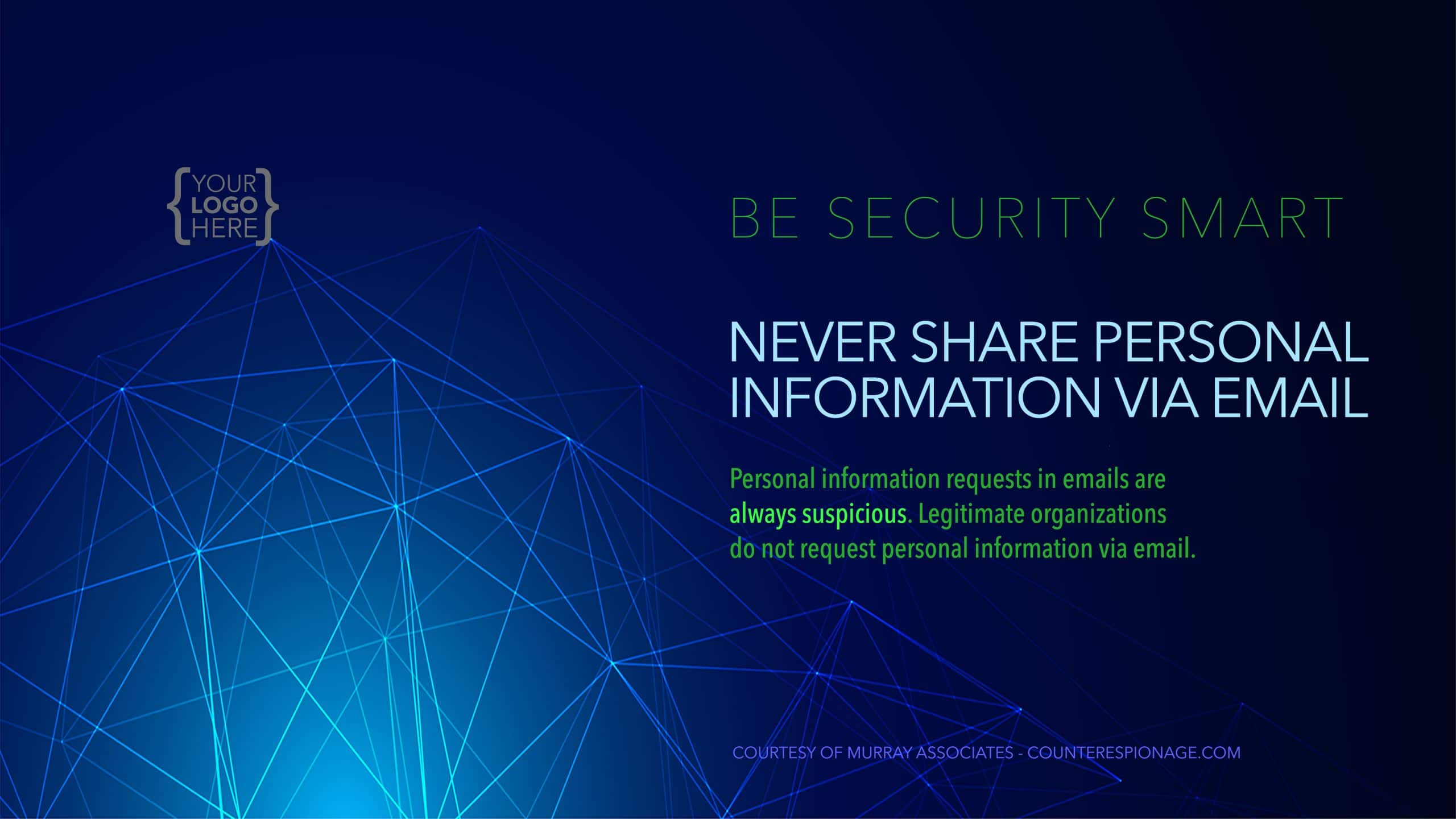 Security Reminder Screen Saver 2 - Never Share