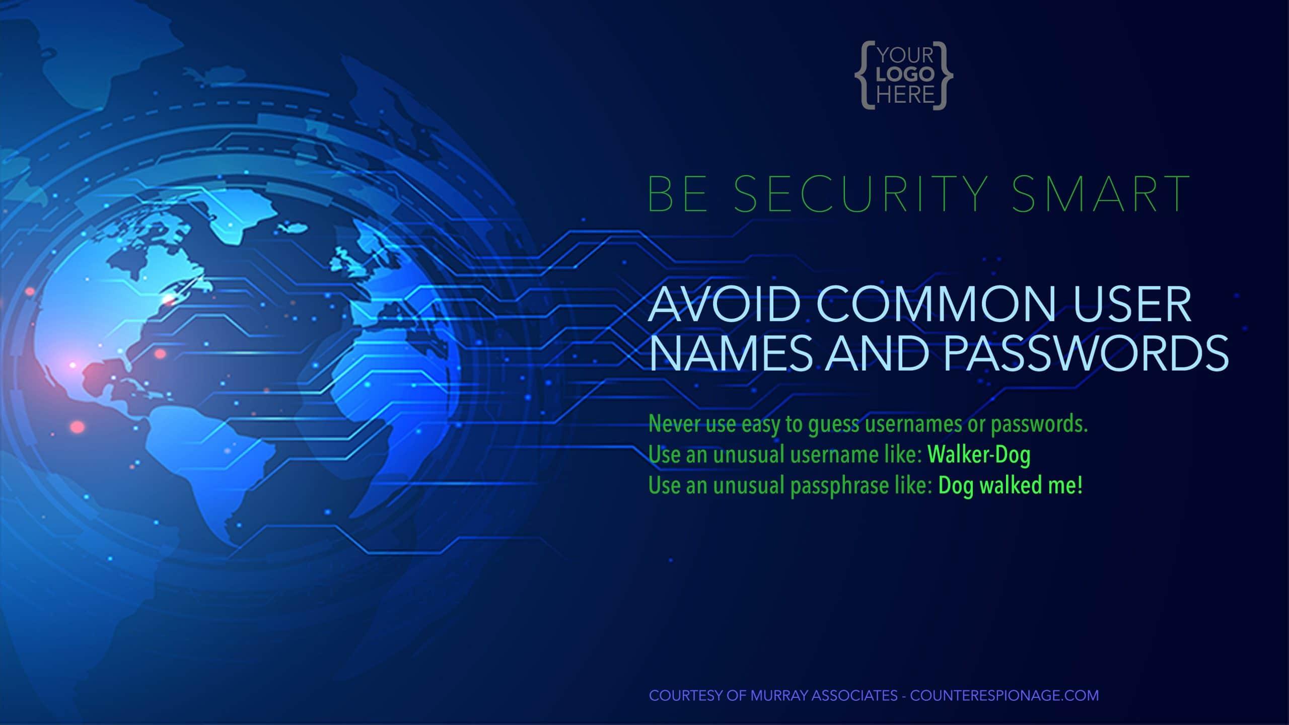 Security Reminder Screen Saver 3 - Avoid