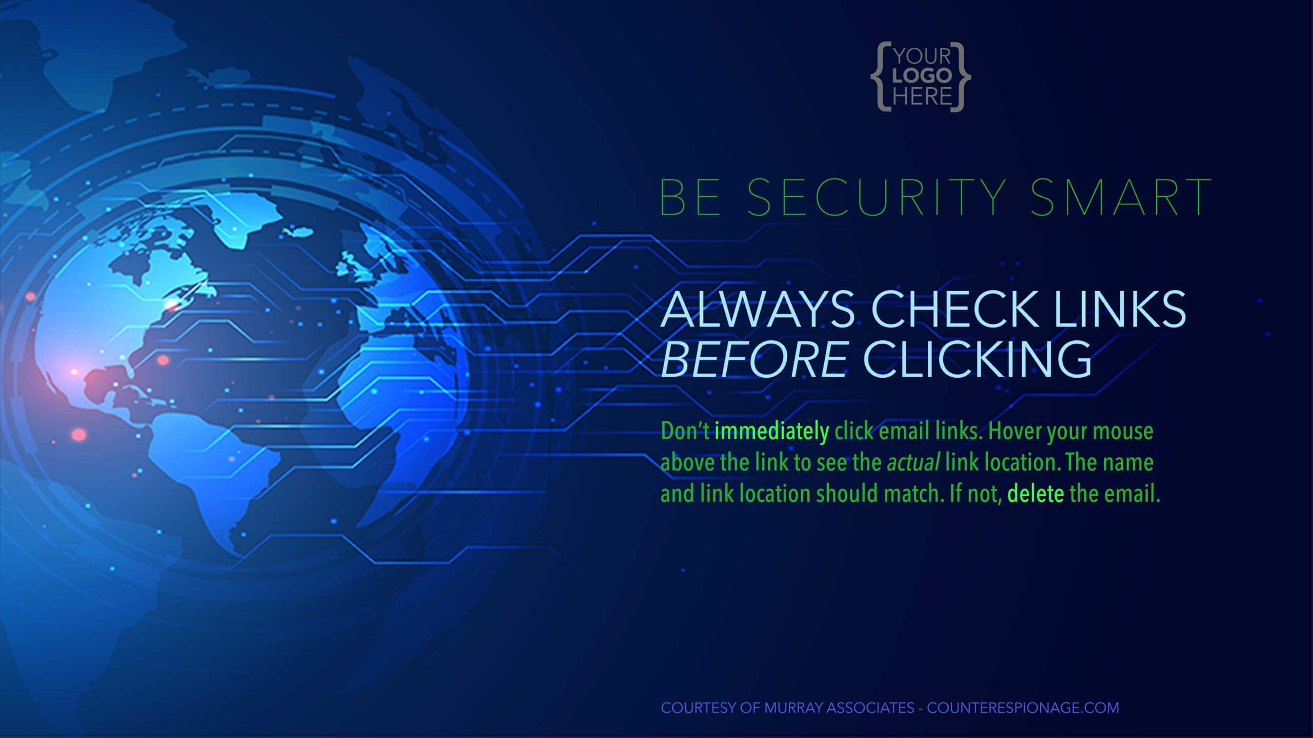 Security Reminder Screen Saver 3 - Always Check