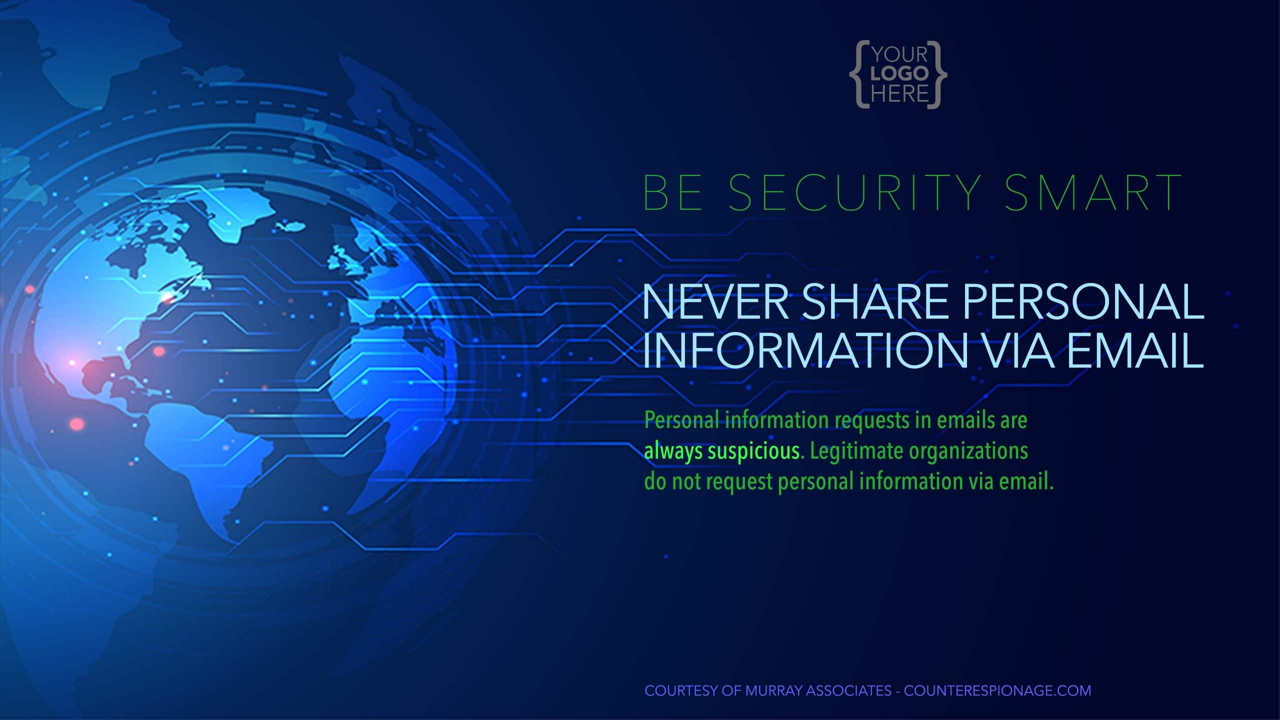 Security Reminder Screen Saver 3 - Never Share