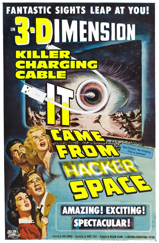 Alien Cable from Hacker Space POSTER