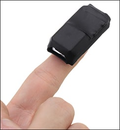 GPS Tracker on Fingertip