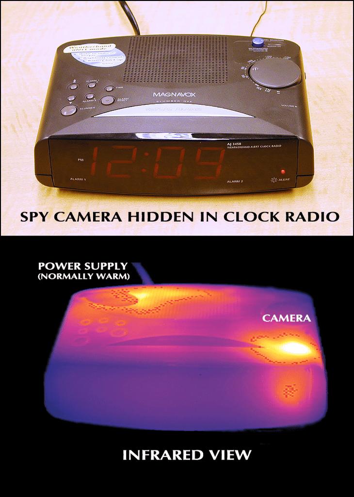 Thermal Emissions Spectrum Analysis Clock Radio Infrared Comparison