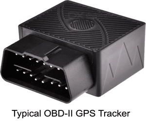 GPS Tracker Hiding in a Typical OBD-II Plug