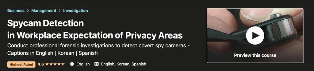 Spycam Detection Sales Banner