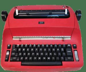 Red IBM Typewriter