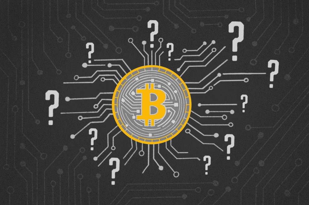 Bitcoin with Question Marks