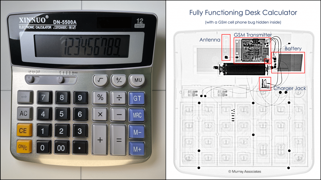 X Ray Analysis of a Calculator