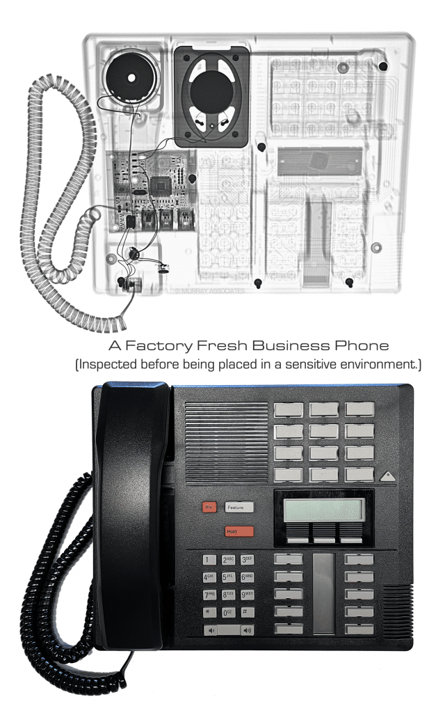 X Ray Analysis of a Business Telephone