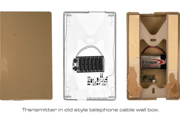 X-ray Comparison Phone Cable Box with Transmitter