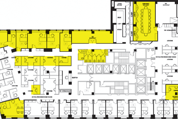 TSCM inspection floor plan which contains TSCM bug sweep costs.